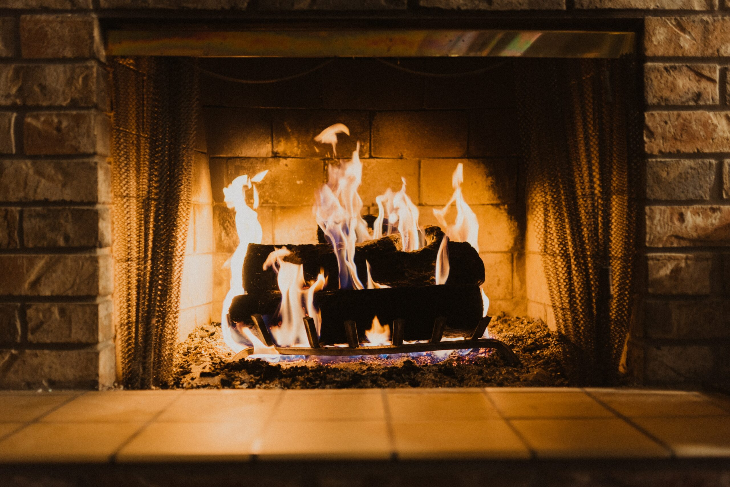 fire wood on fireplace